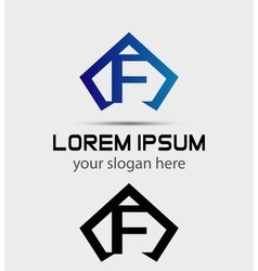 Letter f logo icon design template vector