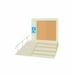Ramp for disabled icon cartoon style vector