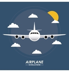 Airplane icon design vector