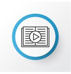 audio book icon symbol premium quality isolated vector image vector image
