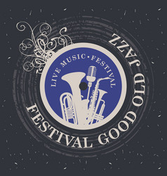 Banner for festival good old jazz vector