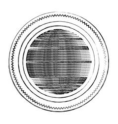 Blurred silhouette heraldic circular figure stamp vector