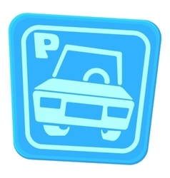 Car parking icon cartoon style vector