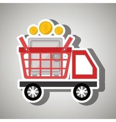 Car shop buy online vector