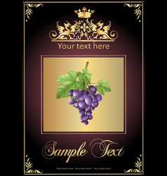 chocolate grapes realistic vector image vector image