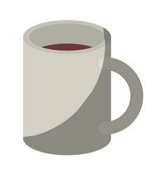 Colorful graphic of mug without contour and half vector
