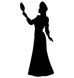 Fantasy fabled princess silhouette vector