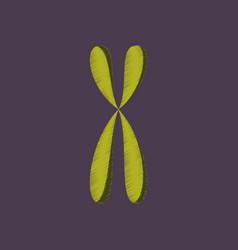 flat shading style icon chromosome vector image