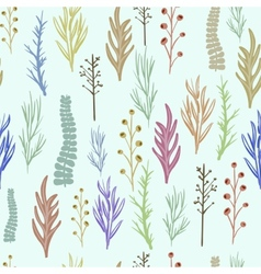 Floral pattern texture with flowers vector image vector image