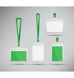 Green lanyards vector