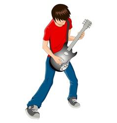 Guitarist vector image