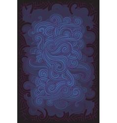 hippie background vector image