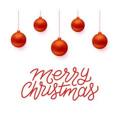 Merry christmas greeting card design vector