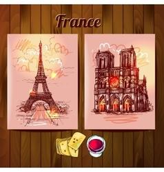Notre Dame de Paris vector image