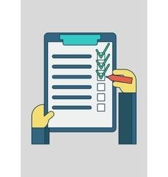 online shopping order list vector image vector image