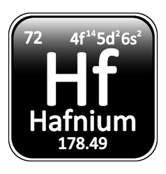 Periodic table element hafnium icon vector