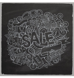 Sale hand lettering and doodles elements and vector