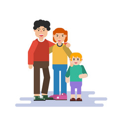 Small family in flat style vector