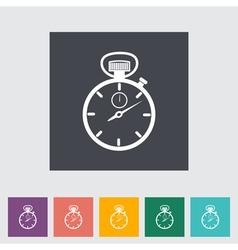 Stopwatch icon vector