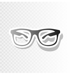 Sunglasses sign new year vector
