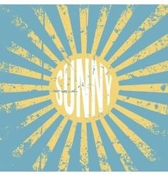 Sunny vintage grunge Background vector image