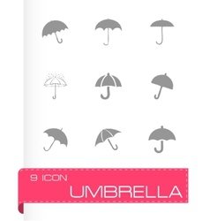 umberlla icon set vector image