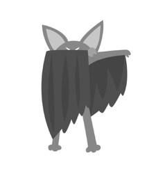 Bat Animal Dressed As Superhero With A Cape Comic vector image