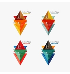Set of triangle geometric business infographic vector