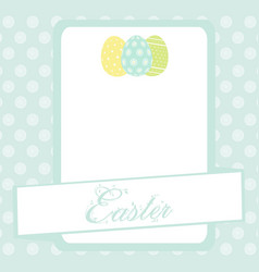 Bule easter banner background with eggs vector