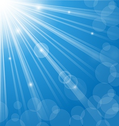 Abstract blue background with lens flare vector
