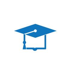 graduation books hat logo design vector image