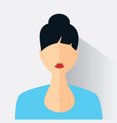 Avatar of the modern woman vector