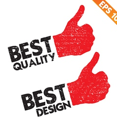 Stamp sticker best quality tag collection - vector