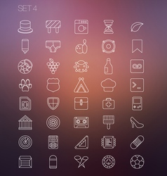 Thin icon set 4 vector
