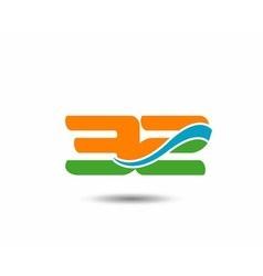 31 anniversary wave logo vector image vector image