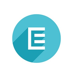 Letter e document logo icon design template vector