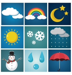 Weather set vector