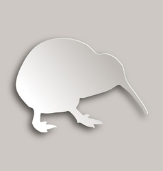 Kiwi on gray vector