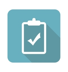 Square clipboard yes icon vector