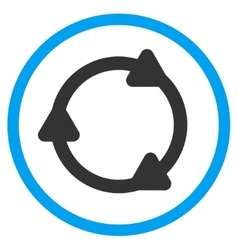 Rotate back rounded icon vector