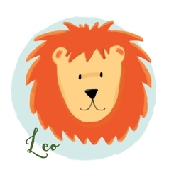Nice leo horoscope sign vector