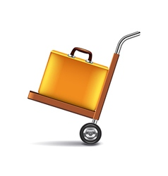 Luggage cart isolated on white vector