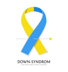 Down syndrome awareness ribbon vector