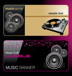 Elegant music banners vector