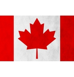 Canadian grunge flag background vector