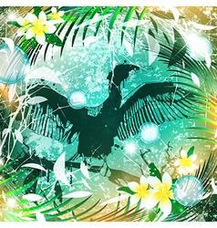 Fantasy Nature Cormorant vector image