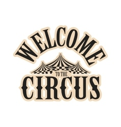 circus show logo vector image
