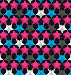 Bright star seamless pattern vector