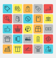 Commerce icons set collection of recommended vector