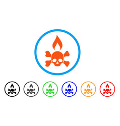 Death ignition rounded icon vector